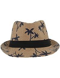 La Vogue Vintage Chapeau De Paille Fedora Trilby Anti-Soleil Plage Été