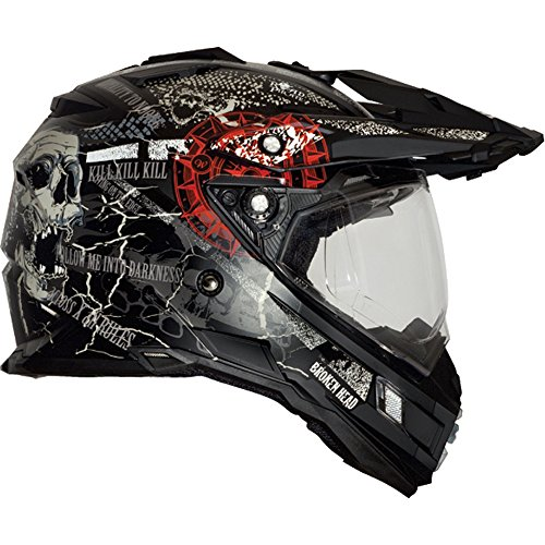 Broken Head Road Pirate Black Edition | Enduro Helm - MX Motocross Helm mit Sonnenblende Größe M (57-58 cm) - 4