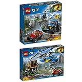 Lego City Bergpolizei 2er Set 60172 60173 Verfolgungsjagd auf Schotterpisten + Festnahme in den Bergen