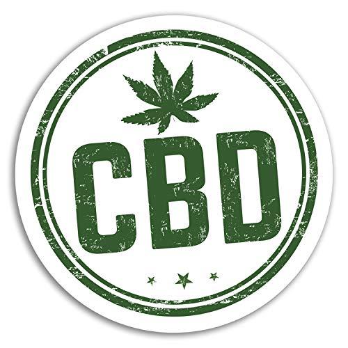 DestinationVinyl 2 x 10 cm CBD Öl Vinyl-Aufkleber - Cannabis Weed Aufkleber Laptop Gepäck # 17983 (10 cm breit)