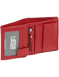 Mini-Kombibörse LEAS in Echt-Leder, rot - LEAS Mini-Edition