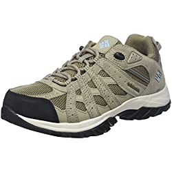 Columbia Canyon Point Waterproof, Zapatillas de Senderismo, Impermeable para Mujer, Beige (Pebble, Sky Blue), 39 EU