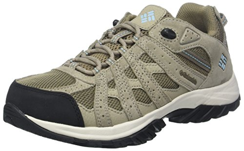 Columbia Canyon Point Waterproof, Scarpe da Trekking da Donna Impermeabili, Beige (Pebble/Sky Blue), 38.5 EU