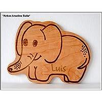 Elefant Brett Frühstücksbrett Kinderbrett Gravur