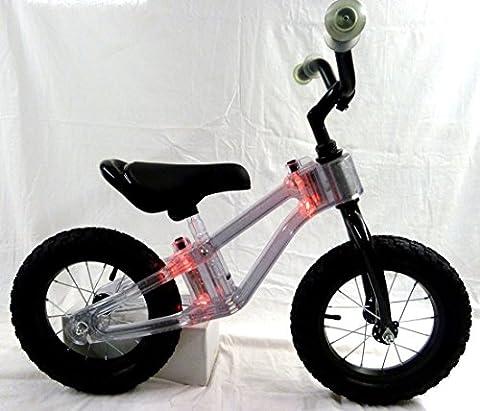Laufrad mit Rahmen Beleuchtung rot Kinderlaufrad Kinder Fahrrad Lernlaufrad
