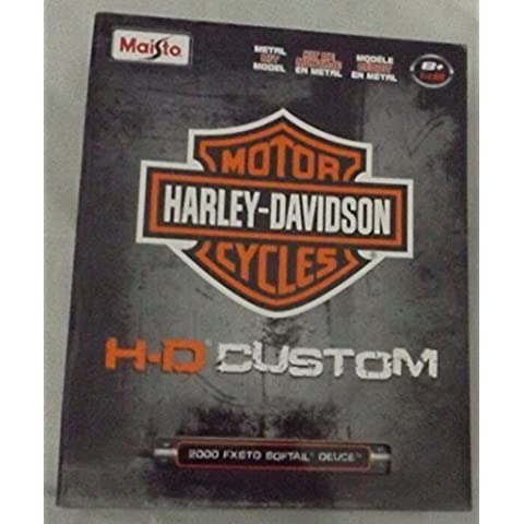Harley-Davidson 2000 FXSTD Softail Deuce 1:18 Scale Assembly Line Model by Maisto