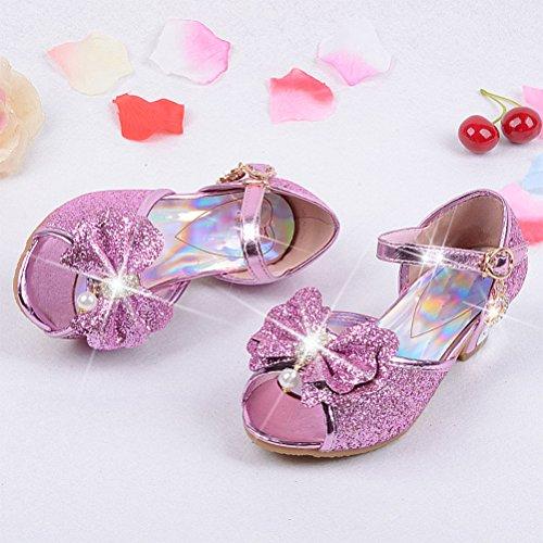 Zhuhaitf Excellent Girls Princess shoes Summer Peep Toe Sandals Children's Casual Shoes pink