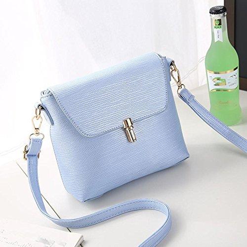 HQYSS Damen-handtaschen Koreanische Stereotypen süße PU Leder Frauen Umhängetasche Messenger light blue