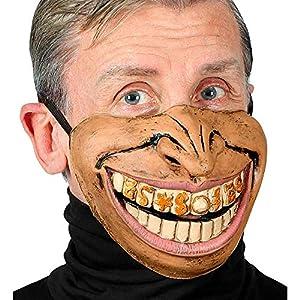 WIDMANN 01145 Rapper - Media máscara para la cara inferior, para hombre, color piel, talla única