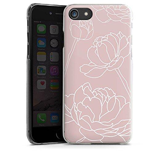 Apple iPhone X Silikon Hülle Case Schutzhülle Blumen Motiv Flower Hard Case transparent