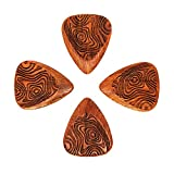 Laser Tones LASTGTP4 Bloodwood Thumbprint Lot de 4 médiators pour Guitare