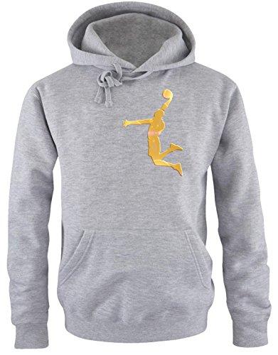 DUNK Basketball Slam Dunkin Kinder Sweatshirt mit Kapuze HOODIE gray-gold, Gr.152cm