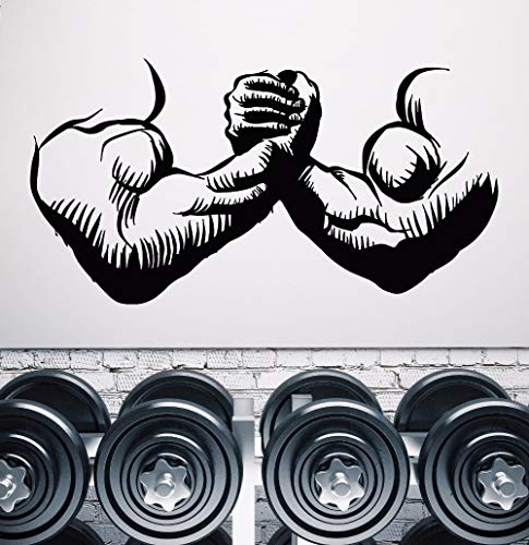 80x42cm vinilo pared Wall Sticker Decal Gym musculos manos de hombre culturista cuerpo hermoso arte de pared mural gimnasio decoracion Poster