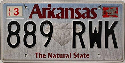 US Nummernschild ARKANSAS Kennzeichen # USA License Plate # Autoschild
