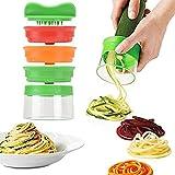 TFENG Gemüs Spiralschneider, Gemüsespaghetti kartoffel, Zucchini Spargelschäler, Gemüsehobel, Möhrenschäler