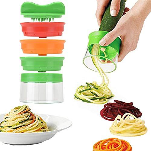 TFENG Affettatrice per verdure a spirale, patata per spaghetti a spirale vegetale, sbuccia per asparagi zucchine, affettatrice per verdure, pelatrice per carote