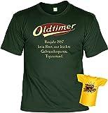 Lustiges T-Shirt zum 60.Geburtstag mit Mini Flaschen Shirt : Baujahr 1957 - 60 Jahre -- Set Goodman Design® -- Fun T-Shirt Gr: 3XL Farbe: dunkelgrün