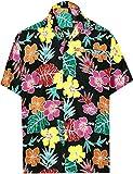 LA LEELA Herren-Hawaiihemd Bademoden Kragen Aloha