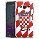 Samsung Galaxy J3 Duos 2016 Hülle Case Handyhülle Kroatien Em Trikot Football Fussball