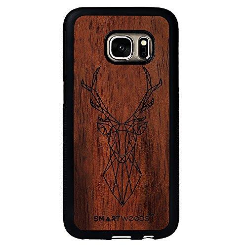 SMARTWOODS Deer Active Schützhülle für SAMSUNG S7, Holzcase für Smartphone, Handyhülle, Schutzhülle aus Holz für Smartphone, ökologisch, naturnah und original