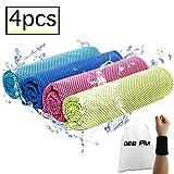 Dee Plus Kühlung Handtuch 4er Mikrofaser Kaltes Handtücher 31x100cm Sofort Kaltes Kühlende handtücher Eis Kalt Cooling Towel