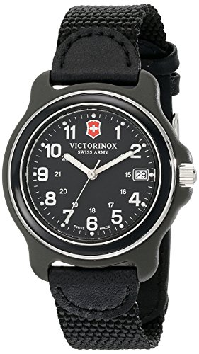 Victorinox Men's 39mm Black Nylon Band Plastic Case Swiss Quartz Analog Watch 249090