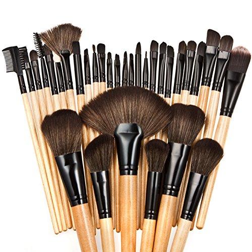 Chouette 32Pcs Beauté Maquillage Pinceau de Maquillage Sac de Rangement (Noir)