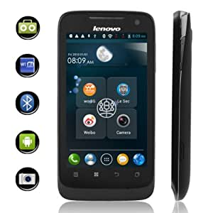 "Lenovo A789 MTK 6577 Android 4.0 3G Smartphone Dual Card Dual Standby Quad Band with 4"" Touch Screen and WiFi/GPS (Black)"
