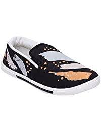 Scantia Stylish & Comfortable Casual Slip-On Shoes For Men ( Colour : Black )