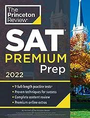 Princeton Review SAT Premium Prep, 2022: 9 Practice Tests + Review & Techniques + Online T
