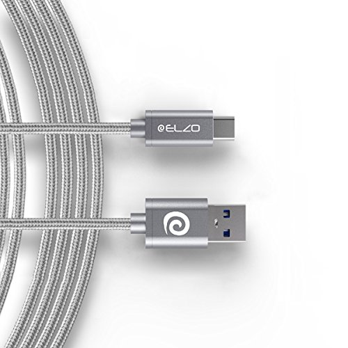 ELZO USB C Kabel, 1.8m Typ C ladekabel, Datenkabel Nylon Geflochtene Robust stabil Datenübertragung für Samsung Galaxy S10 S9 S8 Plus Note 9 8 LG G5 G6 V20,Sony XZ, Huawei Honor, P20 Lite P10,Mate9 10