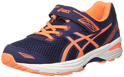 Asics Gel-Zaraca 5 Ps, Scarpe da Corsa Bambino Multicolore (Indigo Blue/Flash Coral/White)