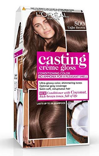 L'Oréal Paris Casting Crème Gloss Coloration Ton Sur Ton Sans Ammoniaque 5.00 Châtain Clair Lot de 2