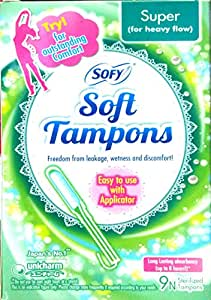 Sofy Soft Tampons 9 Piece For Super Heavy Flow