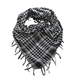 #10: SBF Grey Pure Cotton Arab Shemagh Head Scarf Neck Wrap Arafat Keffiyah Desert Army Wear Value