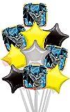 Batman Comics-Birthday gonflé à l'hélium Ballon Livré dans une boîte Batman Comics Biggest Bouquet - 10 Balloons