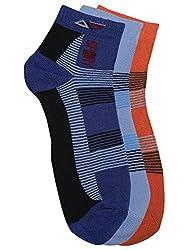 Alvaro Castagnion Pack of 3 Stripe Ankle-Length Socks for Men