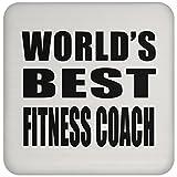 Designsify World 's Best Fitness Coach–Untersetzer, Untersetzer, Beste Geschenk für Geburtstag, Hochzeit, Jahrestag, Neues Jahr, Valentinstag, Ostern, Muttertag/Vatertag
