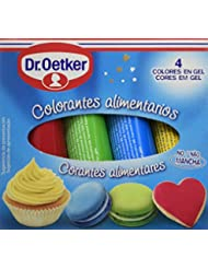 Dr. Oetker Colorantes Alimentarios - Pack de 4 x 10 g - Total: 40