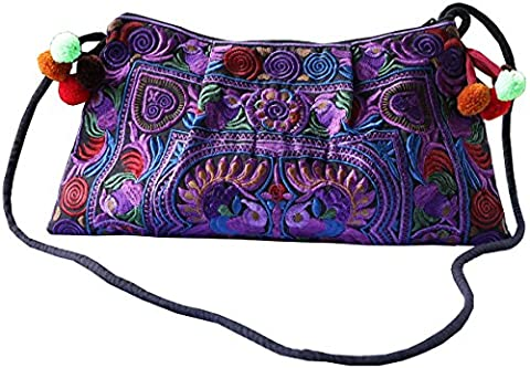 NaLuck , Sac bandoulière pour femme - violet - violet,