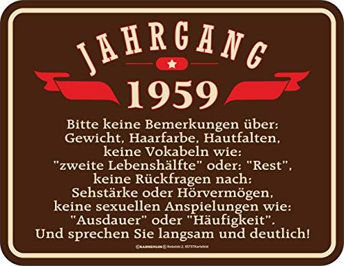 schild zum 60. Geburtstag Jahrgang 1959 ()