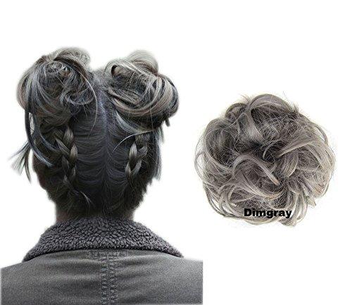ShowPower Haarteil Haargummi Hochsteckfrisuren unordentlicher Dutt leicht . Farbe: Grau blonde...