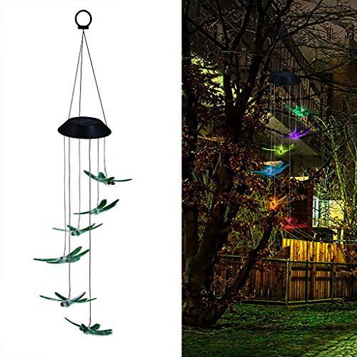 hterkette Farbwechsel LED Solar Windspiel Licht Dragonfly Licht Outdoor Hängeleuchte für Garten Hochzeit Party Fenster (Grün) ()