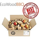 EcoWoodBBQ Apple Apricot Alder Smoking Wood Chunks BBQ - BOX Pack (15 litres/4-5 kg) (Apple)