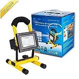 Baustrahler LED Arbeitsleuchte akku Lampe - ROS10G 10W Akku Strahler 750 Lumen 100% helligkeit Garantie