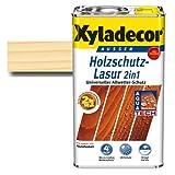 Xyladecor® Holzschutz-Lasur 2 in 1 Farblos 5 l - Für alle alten und neuen Hölzer im Außenbereich & Keine Grundierung mehr notwendig
