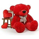 3 Feet Stuffed Teddy Bear - Red Color - 90 Cm Cute/Lovable Super Soft 3 Feet Big High Quality Teddy Bear For Birthday Gifts For Girls /Boys /Girlfriend /Lovable /Valentine