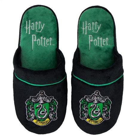 Cinereplicas Harry Potter Hausschuhe - Cuff Clog - Pillow Walk - Premium dauerhafte Qualität - Erwachsene (S/M, Slytherin)