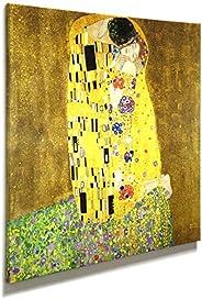 Artenor Quadro Klimt Il Bacio - Stampa su Tela Canvas Intelaiata - 44 x 44 cm