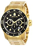 Invicta Herren Chronograph Automatic Uhr mit Paqué or Armband 72